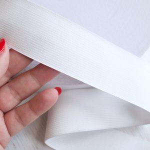 Резинка вязаная белая 40 мм