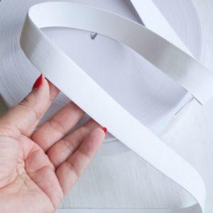 Резинка вязаная белая 25 мм