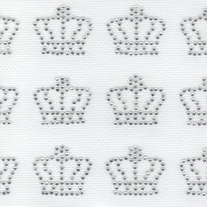 Аппликация из страз в виде маленьких серебряных корон