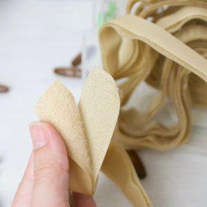 Липучка коричневая (шириной 25 мм) для одежды