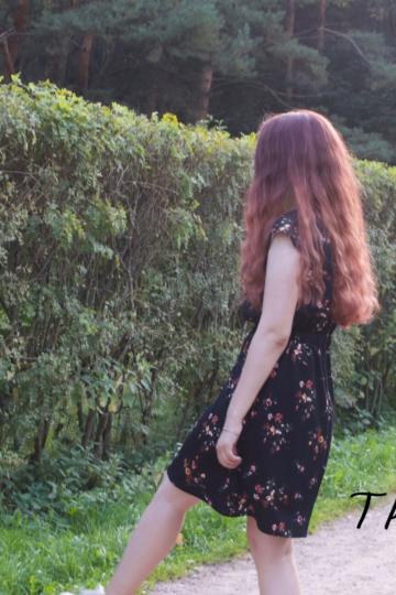 Как сшить платье с коротким рукавом — результат работы