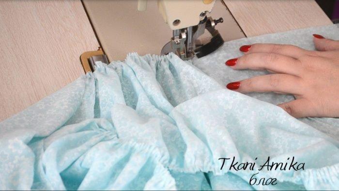 Сборка верхних срезов юбки