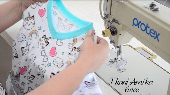 Обработка горловины на футболке