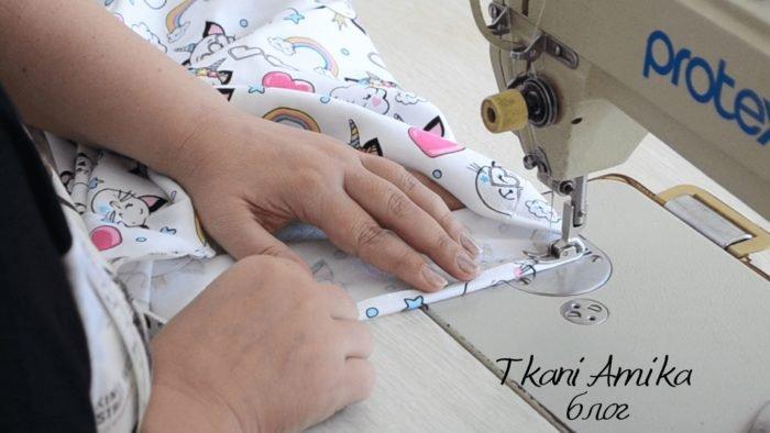 Обработка низа футболки