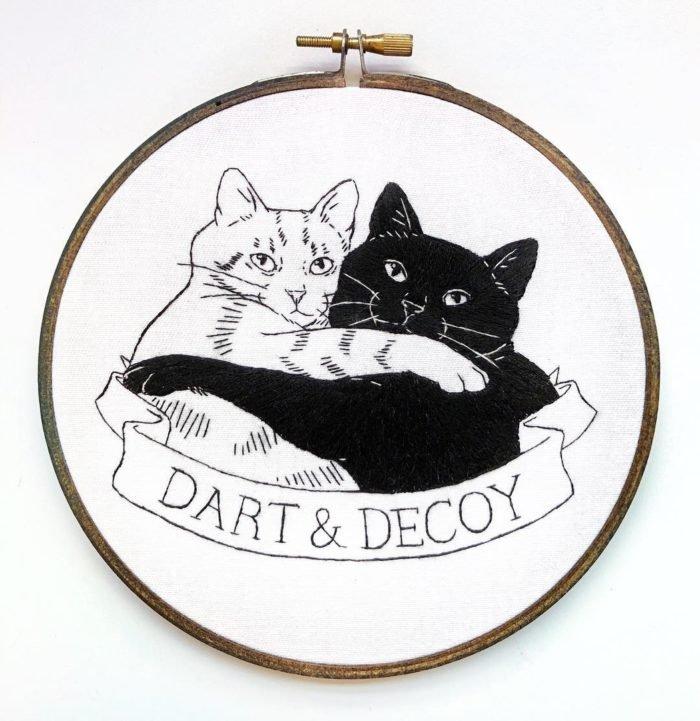Вышивка котиков