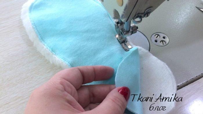 Детали кроя для пошива тапочек